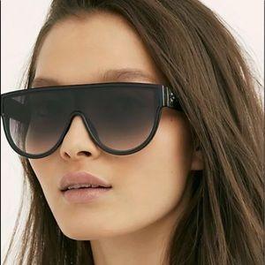 Free People Sunglasses Oversized Shield Gray Len